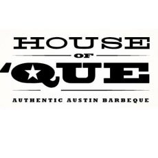 A logo of House Of Que BBQ.