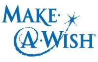 A logo from the Make A Wish Foundation.  A nj fireworks show.